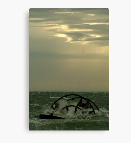 Ozone Shipwreck,Indented Heads Canvas Print