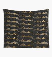 Alexander Hamilton Gold Signature Wall Tapestry
