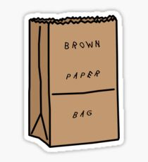 Migos Brown Paper Bag Sticker