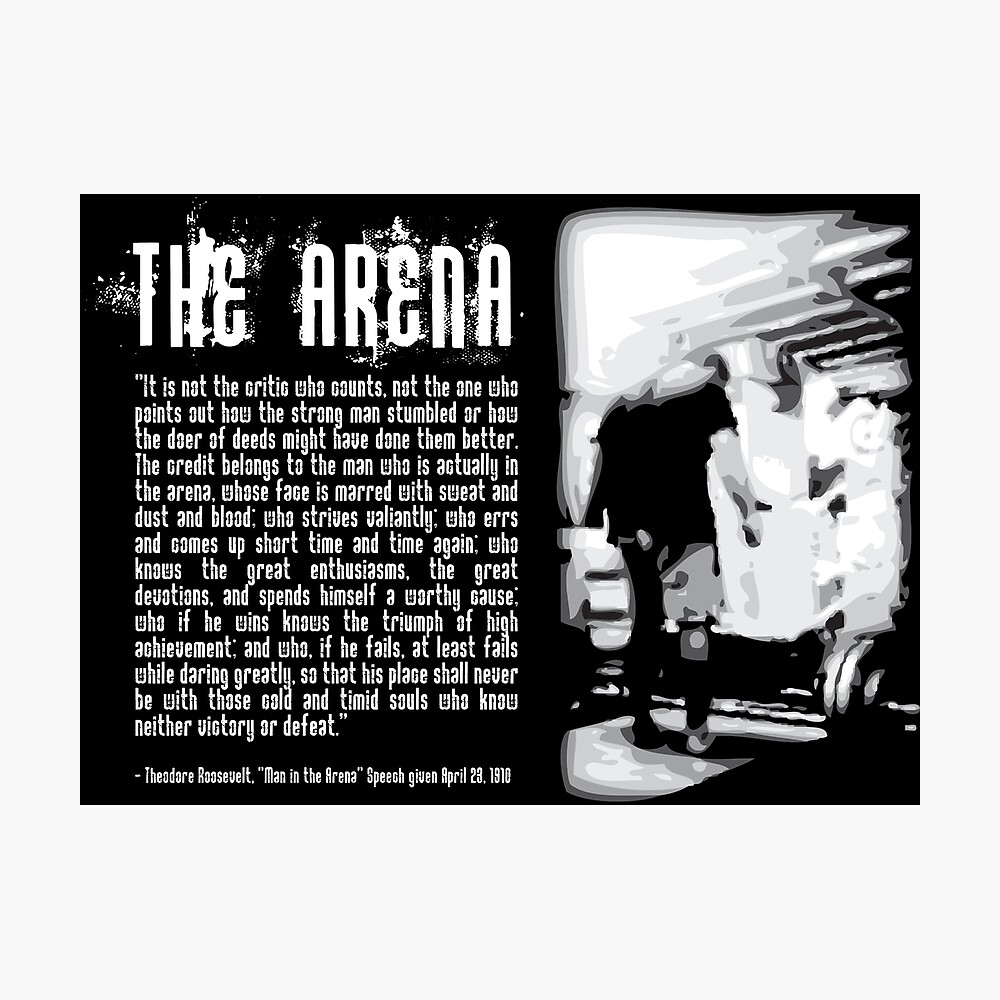 Der Mann in der Arena Fotodruck