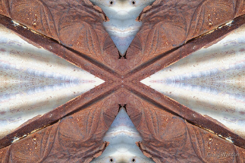 Rust and Corrugated Iron Kaleidoscope #2 by Craig Watson