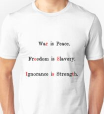 War is Peace (transparent) Unisex T-Shirt