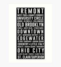 Cleveland Neighborhoods Art Print