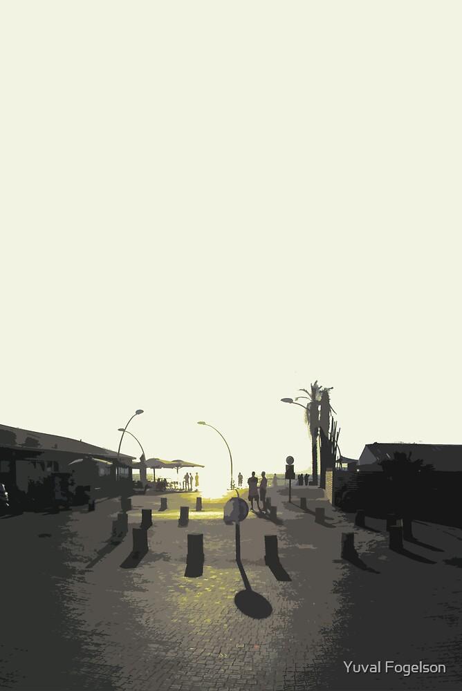 tel aviv sunset by Yuval Fogelson