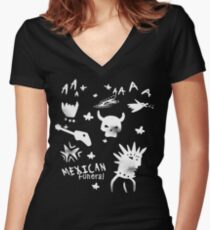 Mexican Funeral Women's Fitted V-Neck T-Shirt