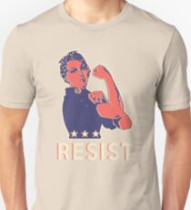 Resist and Keep Marching with Rosie the Riveter Unisex T-Shirt