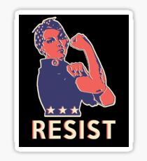 Resist and Keep Marching with Rosie the Riveter Sticker
