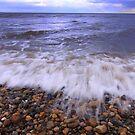 Coast: Surf and Shingle. Marske on Sea, North Yorkshire, England by Ian Alex Blease