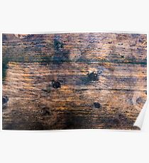 Abstract brown wood texture vintage background Poster