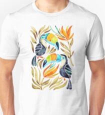 Tropical Toucans – Sepia Palette Unisex T-Shirt