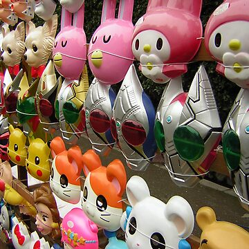 Harajuku masks by BigFatRobot