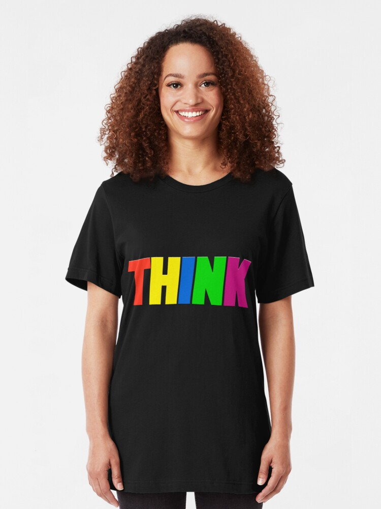 Alternate view of Think - NEON Slim Fit T-Shirt