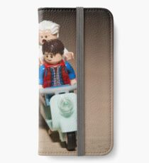 Marty and Doc Brown ride a Scooter iPhone Wallet/Case/Skin