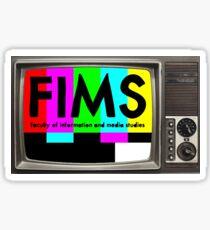 FIMS with retro TV Sticker
