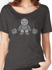 Cute Weightlifting Robot - GREY Women's Relaxed Fit T-Shirt