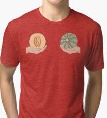 Melon boobs Tri-blend T-Shirt