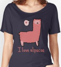 I Love Alpacas Loose Fit T-Shirt