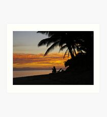 Contemplation on Raro Art Print