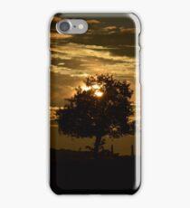 zon ondergang in Frankrijk  iPhone Case/Skin