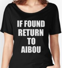 If found return to Aibou Women's Relaxed Fit T-Shirt