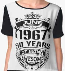 june 1967 50 years of being awesome Chiffon Top