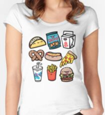 Junk Food Dudes Women's Fitted Scoop T-Shirt