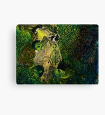 Abstract Alien Collage Canvas Print