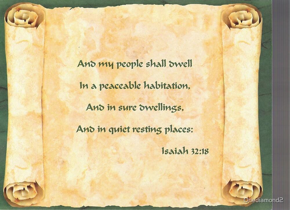 Isaiah 32:18 by Onediamond2