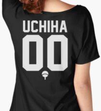 UCHIHA CLAN JERSEY (WHITE) Women's Relaxed Fit T-Shirt
