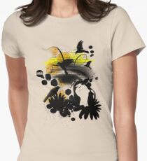 Birds in flight Womens Fitted T-Shirt