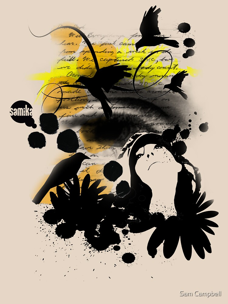 Birds in flight by samika