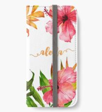 Hawaiian Tropical Floral Aloha Watercolor iPhone Wallet/Case/Skin