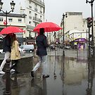 Red Umbrellas, Paris by mypic