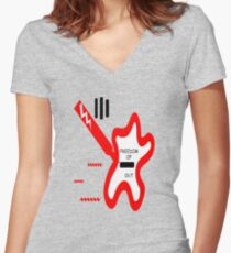 Speech Out Women's Fitted V-Neck T-Shirt