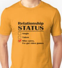 Relationship Status Video Games T-Shirt