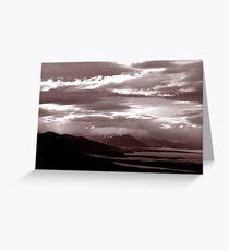 Sun sets in Patagonia Greeting Card