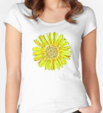 Bright and big yellow flower Women's Fitted Scoop T-Shirt