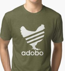 Funny Chicken Adobo Filipino Pinoy Philippines T-Shirt Tri-blend T-Shirt