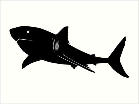 pin great white shark clipart mako shark 8. shark silhouette vector art. stock photo computer ...