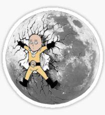 Saitama stuck on the moon Sticker