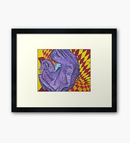 cRUMpleD tO the FLOor Framed Print