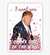 Trumpf Valentinstag Sticker