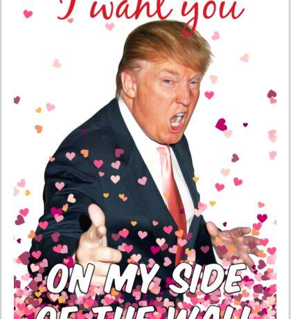 Trump Valentines Day Sticker