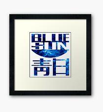 blue sun firefly Framed Print