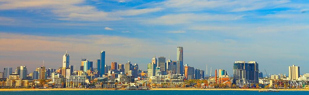 Melbourne Skyline by Neil