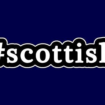 Escocés - Hashtag - Blanco y negro de graphix