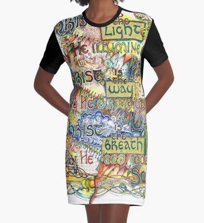 Christ is the Light Graphic T-Shirt Dress