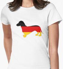 German Flag - Dachshund Womens Fitted T-Shirt