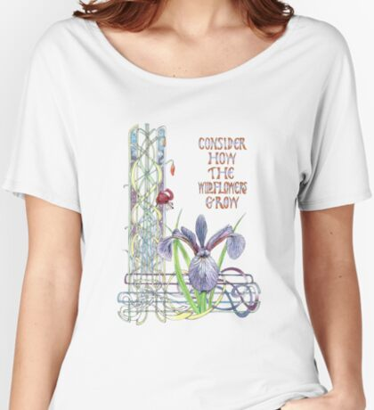 Consider the Wild Flowers Women's Relaxed Fit T-Shirt