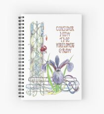 Consider the Wild Flowers Spiral Notebook
